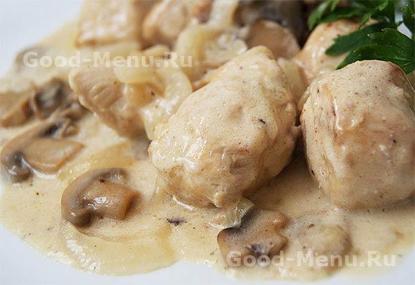 Фрикасе из курицы рецепт с пошаговым