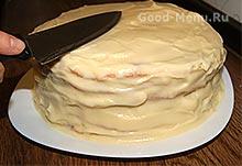 Торт слоеный с заварным кремом